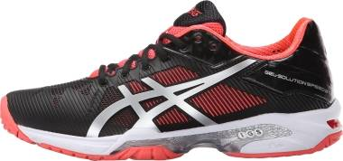 Asics Gel Solution Speed 3 - Black/Silver/Diva Pink