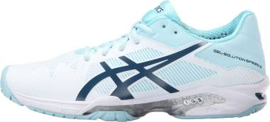Asics Gel Solution Speed 3 - White/Blue Steel/Crystal Blue