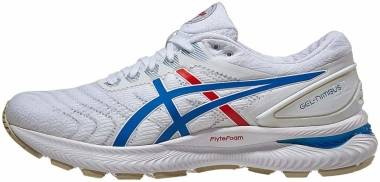 Asics Gel Nimbus 22 - White/Electric Blue (1012A665100)