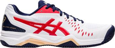 Asics Gel Challenger 12 Clay - White / Classic Red (1041A048115)