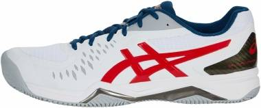 Asics Gel Challenger 12 Clay - White Classic Red (1041A048117)