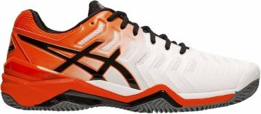 Asics Gel Resolution 7 Clay - White/Koi (E702Y100)