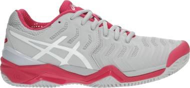 Asics Gel Resolution 7 Clay - Grey White Red 9601 (E752Y9601)