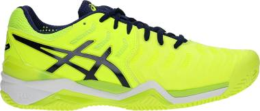 Asics Gel Resolution 7 Clay - Safety Yellow Blue White 0749 (E702Y0749)