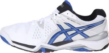 Asics Gel Resolution 6 - White White Blue Silver 142 (E500Y0142)