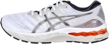 Asics Gel Nimbus 23 - White / Oyster Grey (1011B004100)
