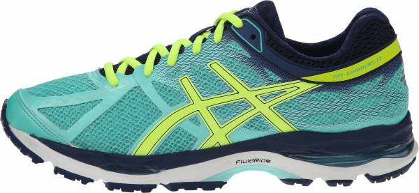Asics Gel Cumulus 17 woman aqua mint/flash yellow/navy