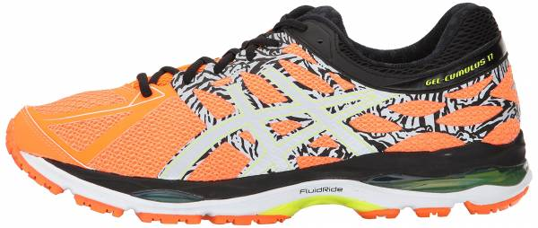 Asics Gel Cumulus 17 men hot orange/flash yellow/black
