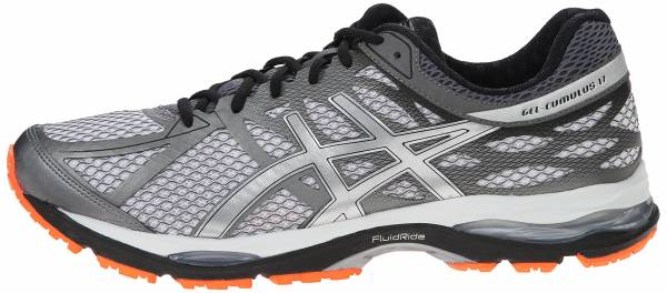 Asics Gel Cumulus 17 men white/silver/hot orange