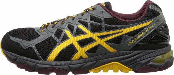Asics Gel FujiTrabuco 4 men black/spectra yellow/royal burgundy