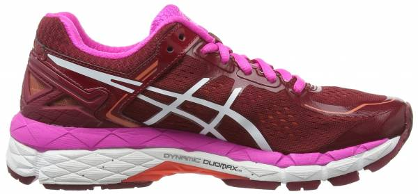 Asics Gel Kayano 22 woman deep ruby/white/pink glow