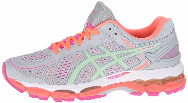 Asics Gel Kayano 22 woman silver grey/pistachio/fiery coral