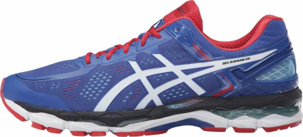 Asics Gel Kayano 22 men blue/white/fiery red