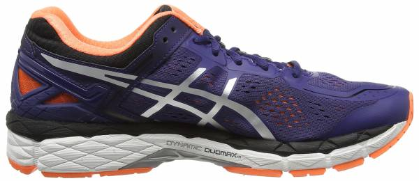 Asics Gel Kayano 22 men bleu (deep cobalt/silver/hot orange 5093)