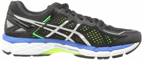 Asics Gel Kayano 22 men black (black/silver/flash yellow 9093)