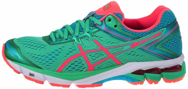 Asics GT 1000 4 woman green (spring bud/flash coral/scuba blue 8706)