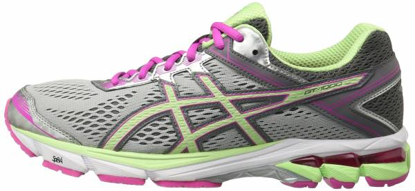 Asics GT 1000 4 woman silver/pistachio/pink glow