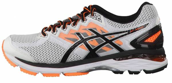 Asics GT 2000 4 men weiu00df (weiu00df/schwarz/hot orange)