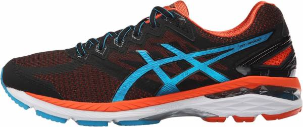 Asics GT 2000 4 men black/blue jewel/flame orange