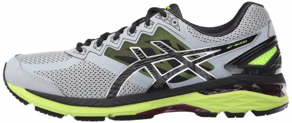 Asics GT 2000 4 men multicolor (midgrey/black/safety yellow)