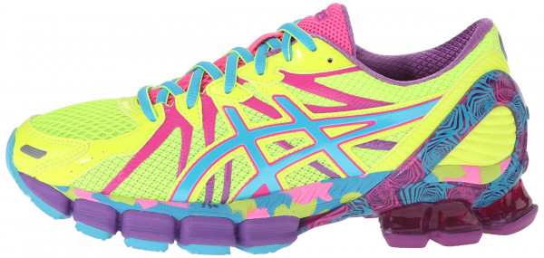 Asics Gel Sendai 3 woman flash yellow/turquoise/hot pink