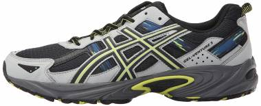 Asics Gel Venture 5 - Dark Steel Black Neon Lime