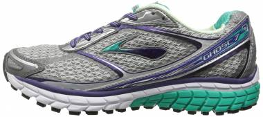 Brooks Ghost 7 Silver/Mulberry Purple/Pool Green Men