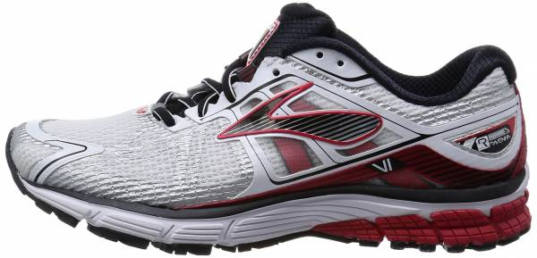Brooks Ravenna 6 White/Hr Red/Blk