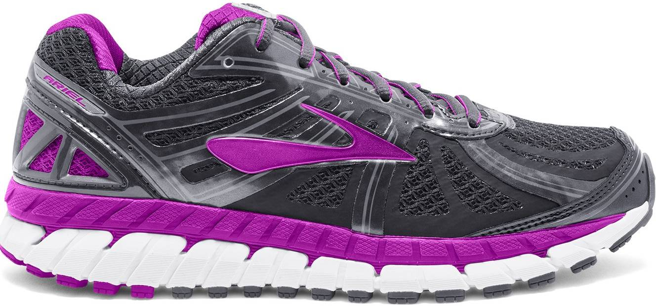 Women/'s Brooks Ariel 16 D Wide Grey Purple 120219 1D 059