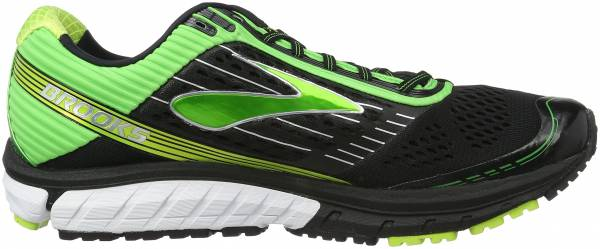 Brooks Ghost 9 men multicolor (black/classic green/lime punch)
