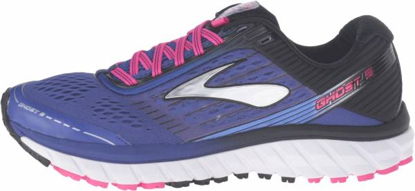 Brooks Ghost 9 woman clematis blue/black/pink glow