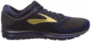 Brooks Revel - Navy Gold Black