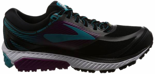 Brooks Ghost 10 GTX - Black Black Peacockblue Hollyhock 1b089 (089)