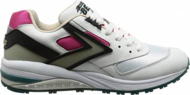 a2aa7585060 Brooks Beast 1 White Black Pink Aqua Blue Men