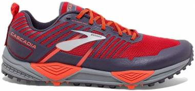 Brooks Cascadia 13 - Rosso Red Orange Grey 636 (636)