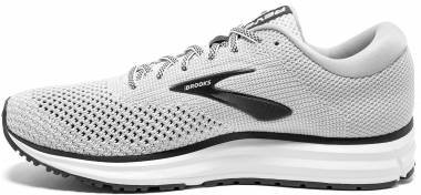 online store 111b5 1a8ba Brooks Revel 2 White Grey Black Men