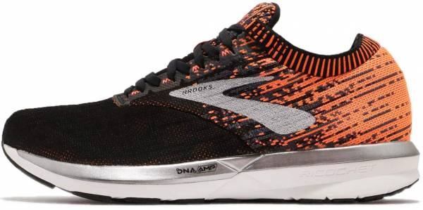 Brooks Ricochet Black / Orange / Ebony