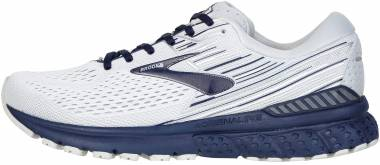 Brooks Adrenaline GTS 19 - White/Grey/Navy (190)