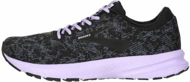 Brooks Launch 6 - Ebony Black Purple Rose (092)