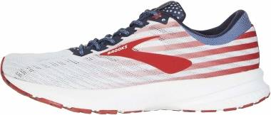 Brooks Launch 6 - White Red Blue (166)