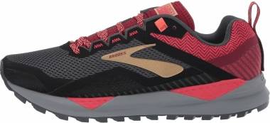 Brooks Cascadia 14 - Black Rumba Red Coral (042)