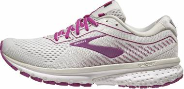 Brooks Ghost 12 - White Grey Hollyhock (186)