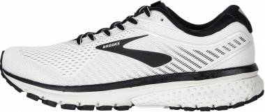 Brooks Ghost 12 - White Grey Black (175)