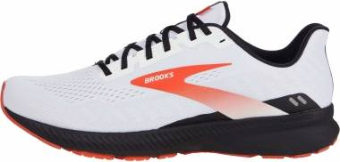 Brooks Launch 8 - White/Black/Red Clay (198)