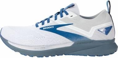 Brooks Ricochet 3 - White/Grey/Blue (199)