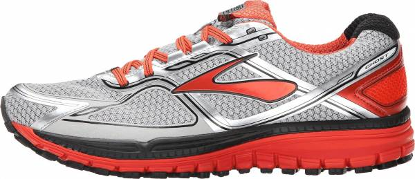 Brooks Ghost 8 GTX Argent (Silver/Poinciana/Black)