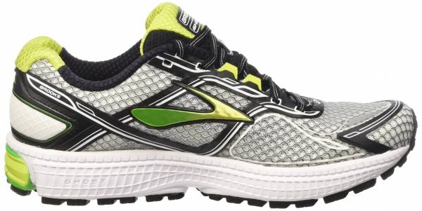 Brooks Ghost 8 men argent (silver/classicgreen/limepunch 192)