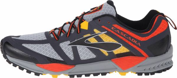 Brooks Cascadia 11 men river rock/cherry tomato/spectra yellow