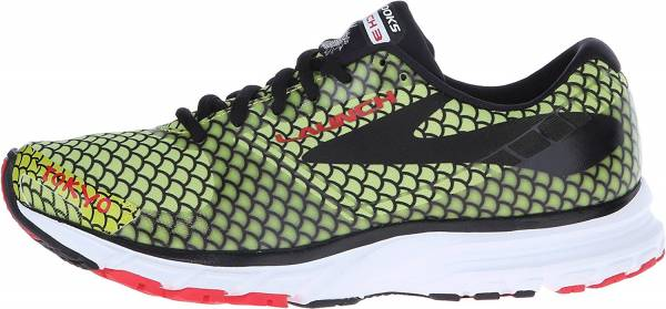 Brooks Launch 3 woman lime punch/black/high risk red