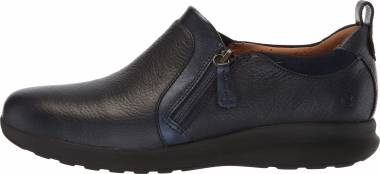 Clarks Un Adorn Zip - Navy Leather Suede Combination